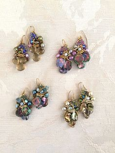 Diy Jewelry : Since The Southern Highland Craft Guild has created a network of over 900 artists & mountain craftspeople selling jewelry, pottery & much more. Beaded Jewelry Designs, Seed Bead Jewelry, Bead Earrings, Handmade Jewelry, Jewelry Findings, Seed Beads, Earring Tutorial, Victorian Jewelry, Beads And Wire