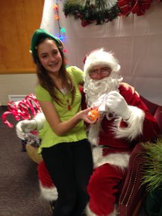 You're never too old to sit on Santa's lap
