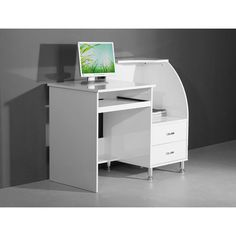 W103cm x D56cm x H(Total)90cm(Work Desk)75cm White Wood Computer Study Desk Home Workstation PC Laptop Table Office Furniture in Home, Furniture & DIY, Furniture, Desks & Computer Furniture | eBay