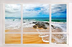 Featured Art - View from my Beach House Window  by Kaye Menner