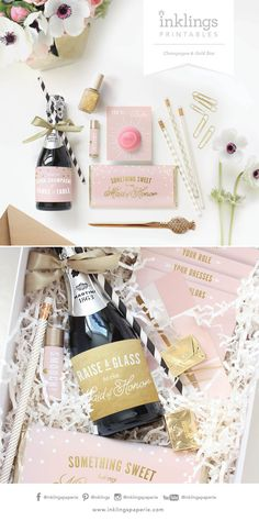 Be My Bridesmaid Box / Be My Maid of Honor Box // Printable Collection for…