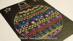 graphisme-boule-de-noel-sur-carte-a-gratter. Noel Christmas, Christmas And New Year, Winter Christmas, Winter Art Projects, Scratch Art, Theme Noel, Elementary Art, Diy For Kids, Art Lessons
