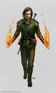 Male Human Pyromancer