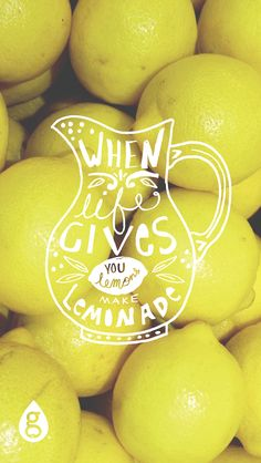 When life gives you lemons, make lemonade. Geneologie | Greek Life | Sorority | Sisterhood | Freebie | Free Download | Wallpaper | Background | iPhone Wallpaper | Phone Background | Lemons | Lemonade | Summer
