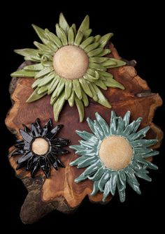 Black Cat Pottery: Pottery - Daisies