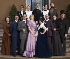 Still of Michael Ian Black, Paget Brewster, Christina Hendricks, David Koechner, Jason Ritter, David Wain, Armen Weitzman, Beth Dover, Brian Huskey, Brett Gelman, Natasha Leggero, Riki Lindhome and Lauren Ash in Another Period (2015) --- one can see the talent in the cast.I LOVE this show, it's ridiculous & hilaious !