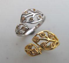 Citrine Ring Silver Citrine Ring November Birthstone by Belesas
