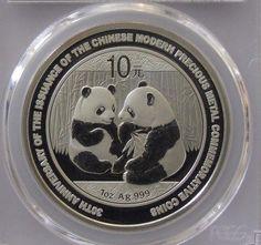 2009 China 10 Yuan Silver Panda  30th Anniversary Chinese Bullion PCGS MS68