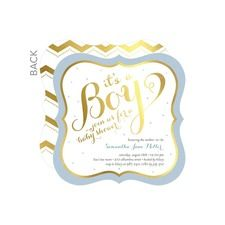 Touch of Gold: Blue Boy Baby Shower Invitations