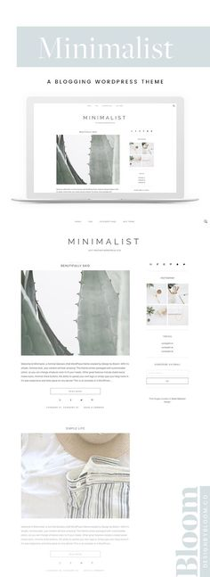 Minimalist Theme - Agency Website Design - Help you design professional website - A minimalist WordPress theme designed to be completely clutter-free and showcase your content. Wordpress Website Design, Wordpress Theme Design, Website Design Inspiration, Blog Design, Design Design, Graphic Design, Minimalist Wordpress Themes, Magazin Design, Website Themes