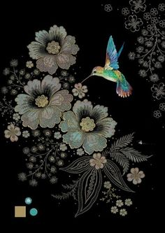 Bug Art Jewels greeting card - Blue Hummingbird by Jane Crowther Hummingbird Wallpaper, Hummingbird Art, Illustrations, Illustration Art, Bug Art, Whatsapp Wallpaper, Chinoiserie, Hand Embroidery Designs, Fractal Art