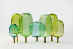 Oslo designers StokkeAustad and Andreas Engesvik presented 'The Woods', a blown-glass sculpture of trees, at Designgalleriet for 2013 Stockholm Design Week. Wood Glass, Glass Art, Stockholm Design, Sculpture Art, Sculptures, Deco Design, Glass Design, Design Design, Lagom Design