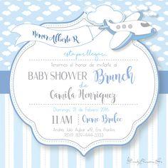 Baby Shower Invitation Design... Baby Boy... Illustrator Design... Creme Brulee... Shower Brunch.  Emely Bencosme G.