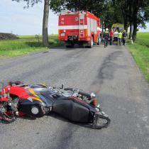 Smrtelná nehoda na Tachovsku, zemřel motorkář