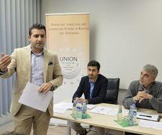 Referierten zum Auftakt der zweiten Runde des Projekts, das der gesellschaftlichen Polarisierung entgegenwirken soll (v.l.): Mehmet Demir, Talha Isik und Mesut Akdeniz.