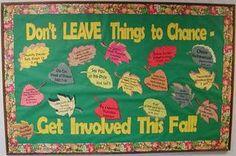 Advertising Classroom Events & Volunteer Openings Bulletin Board Idea