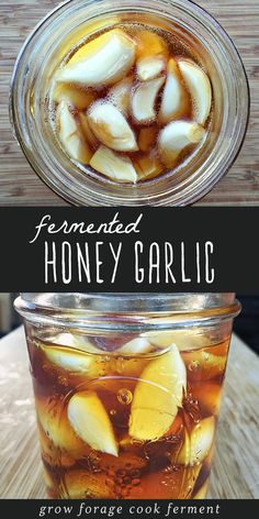 FERMENTED HONEY GARLIC , By Paula Michele . This immune boosting fermented honey garlic is the perfect first recipe for beginner. Fermented Honey, Fermented Foods, Fermentation Recipes, Canning Recipes, Natural Home Remedies, Herbal Remedies, Natural Healing, Holistic Healing, Health Remedies