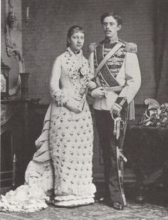 Gustav and Victoria pictured at the time of their engagement.