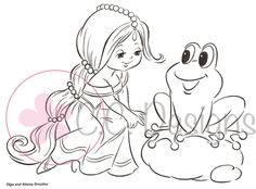 """C.C. Designs Drozy's Darlings """"Princess and the Frog"""" Rubber Stamp"""