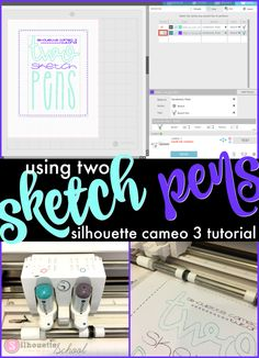 Sketching Pen sketches, sketch pen, silhouette sketch pens, pen sketch, etch a sketch with pen - How to use two sketch pens in a design with Silhouette CAMEO Silhouette School Blog, Silhouette Cameo Machine, Silhouette Vinyl, Silhouette America, Silhouette Portrait, Silhouette Cameo Projects, Silhouette Design, Silhouette Files, Silhouette Cutter
