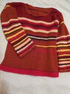 Bluza mea amestecata :) Jumatate crosetata, jumatate tricotata