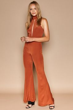 The POSITANO jumpsuit in Burnt Sienna available now online #stonecoldfox #spring17