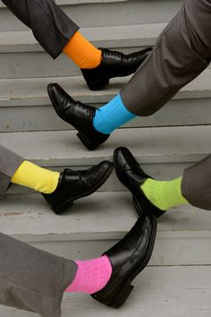 Color for the Groom and his groomsmen! Gold toe socks.