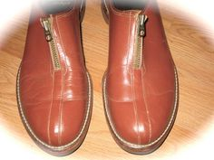MENS Or Ladies Vintage 50s Rare  ZIP TOP Shoes Rock by Flipsville, $200.00...........these shoes are magnificent...