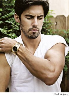 Milo Ventimiglia - when I was hooked with the tv show Heroes I couldnt get over how hotter he looked when he was scruffy looking in Fergies's MTV big girls dont cry