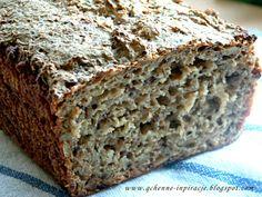 Qchenne-Inspiracje! FIT blog o zdrowym stylu życia i zdrowym odżywianiu. Kaloryczność potraw. : Chleb na zakwasie, orkiszowo - żytni, z ziar...