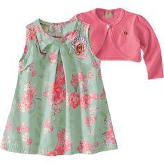 Vestido de Festa Infantil Floral com Bolero Rosa - Milon :: 764 Kids | Roupa bebê e infantil