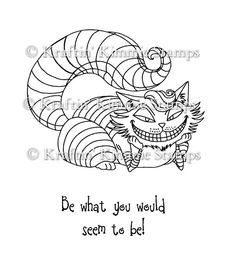 Cheshire Cat:  Moonlight Whispers : Kraftin Kimmie Stamps