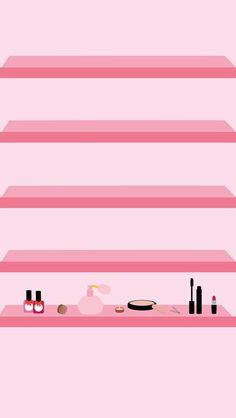 Makeup Shelfs ★ Find more preppy wallpapers for your #iPhone + #Android…