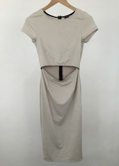 gloria natural color suede dress