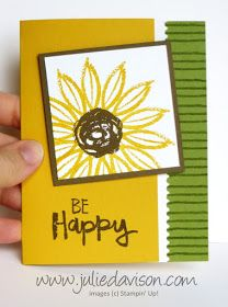 Julie's Stamping Spot -- Stampin' Up! Project Ideas by Julie Davison: Paint Play Sunflower Card + Stamp of the Month Club Card Kit Reveal
