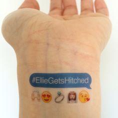 Custom Bachelorette Party Temporary Tattoos - Emojis