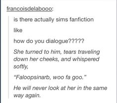 Who would write this fanfiction?