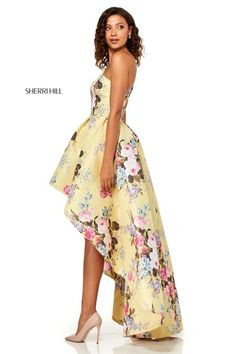 22d4f5959ca Sherri Hill Style 52489 Floral Prom Dresses