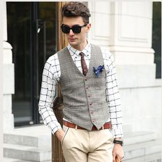 Find More Vests Information about SHOWERSMILE Brand Suit Vest Men Jacket Sleeveless Beige Gray Brown Vintage Tweed Vest Fashion Spring Autumn Plus Size Waistcoat,High Quality suit vest men,China suit vest Suppliers, Cheap suit vest fashion from SHOWERSMILE Store on Aliexpress.com