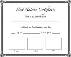 First Haircut Certificate Instant Download Etsy First Haircut Baby S First Haircut Baby Haircut