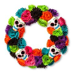 day of the dead wreath target halloween wreathshalloween decorationshalloween - Day Of The Dead Halloween Decorations