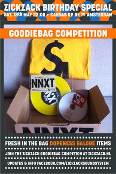 For those into music, let's big up this big man. Even big in Japan, Wouter Brandenburg aka DJ Wouda aka Brandenburg Mastering. Fresh in the bag; a package from good kid Dopeness Galore with some goodies from his label.   To win all this goodies - go to http://zickzack.nl/