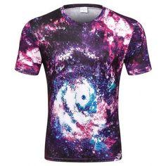 a8d55d3db Men s Summer Short Sleeve Digital Print 3D Star T Shirt #Fashion #T-