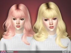 TsminhSims - SWIFT ( HAIR 57 ) - New meshes - 27 colors: 18...