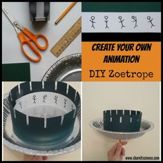 Build your own zoetrope and create your own animation. Hours of STEAM fun for kids who love art, engineering and science!