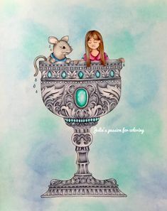 Ivy and the inky butterfly by Johanna Basford Colored by Julie's passion for coloring