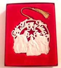 Lenox China Ornament WE THREE KINGS CHRISTMAS 2003 Song Of Christmas Collection