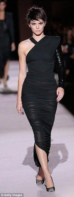 Kim Kardashian dons tight dress with silver hair at Tom Ford NYFW show