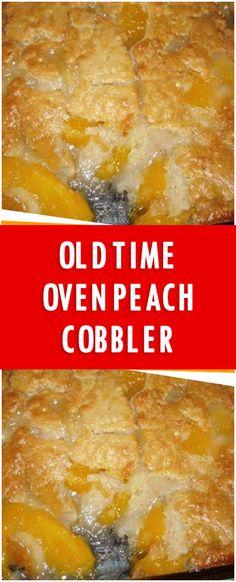 Old Time Oven Peach Cobbler – Fresh Family Recipes Peach Cobbler Cheesecake Recipe, Good Peach Cobbler Recipe, Peach Cobbler With Bisquick, Best Peach Cobbler, Peach Cobbler Dump Cake, Southern Peach Cobbler, Fruit Cobbler, Cobbler Cake Mix, Peach Cobblers