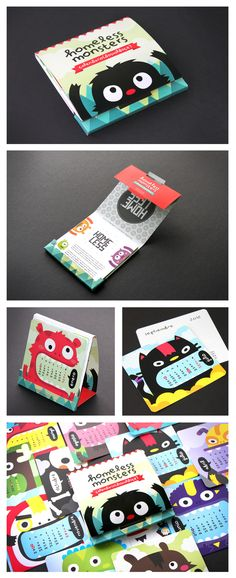 homeless® monsters calendar 2012 by carlos higuera, via Behance. This is so cute I hope he does a 2013 version. PD